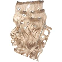 """HAIR EXTENSIONS SWEDISH BLONDE CLIPS IN 24"""" INCHES WAVY 160gm WAVY Synthetic"""