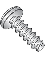 """18-8 Stainless Steel Thread Rolling Screw for Plastic, Passivated Finish, Pan Head, Phillips Drive, 4-20 Thread Size, 1/2"""" Length (Pack of 50)"""