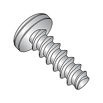 Phillips Drive 18-8 Stainless Steel Thread Cutting Screw Plain Finish 1//4 Length Pack of 100 1//4 Length #6-32 Thread Size Pan Head Small Parts 06043PP188 Type 23 Pack of 100