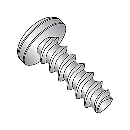Passivated Finish #8-16 Thread Size 18-8 Stainless Steel Thread Rolling Screw for Plastic 1-1//4 Length Pack of 25 Phillips Drive Pan Head