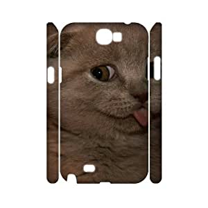 Winfors Scottish Fold Cat Phone 3D Case For Samsung Galaxy Note 2 N7100 [Pattern-1]
