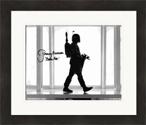 Boba Fett autographed 8x10 photo by Jeremy Bulloch (Star Wars Empire Strikes Back) Matted & Framed