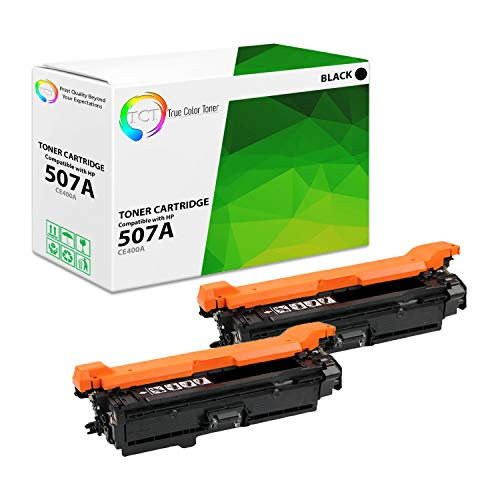 TCT Premium Compatible Toner Cartridge Replacement for HP 507A CE400A Black Works with HP Laserjet Enterprise M551 M575, Pro M570 M570DW Printers (5,500 Pages) - 2 Pack ()