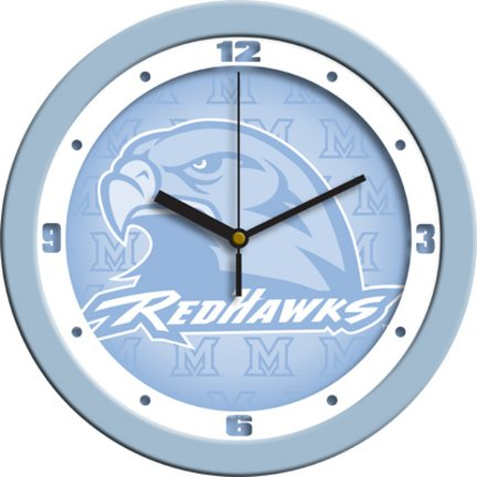 SunTime NCAA Miami Univ. Redhawks Wall Clock - Baby Blue]()