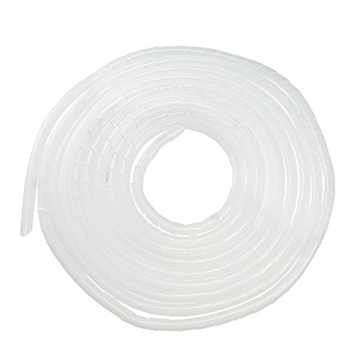 uxcell 12mm Flexible Spiral Tube Cable Wire Wrap Computer Manage Cord Transparent 5.5-8M ()