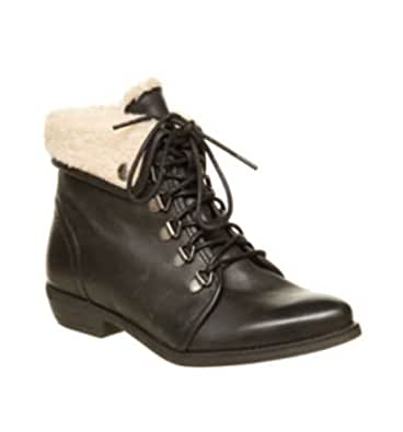 Amazon.com | Office Womens Nice One Black Boot Leather