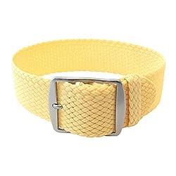 Wrist And Style Perlon Watch Strap – Light Yellow | 24mm