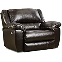 Simmons Upholstery 50433PBR-195 Bingo Power Cuddler Recliner, Brown