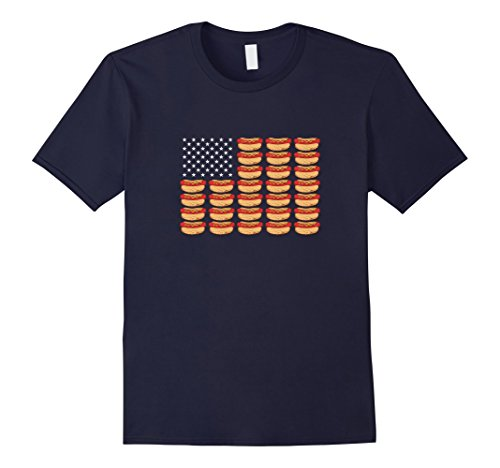 Mens Hot Dog American Flag Patriotic T-Shirt Large - Men Hot American