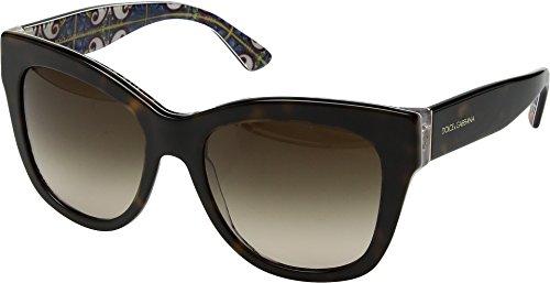 Dolce & Gabbana Women's 0DG4270 Havana/Brown Gradient 1 One Size (Gabbana Sunglasses Retail Dolce)