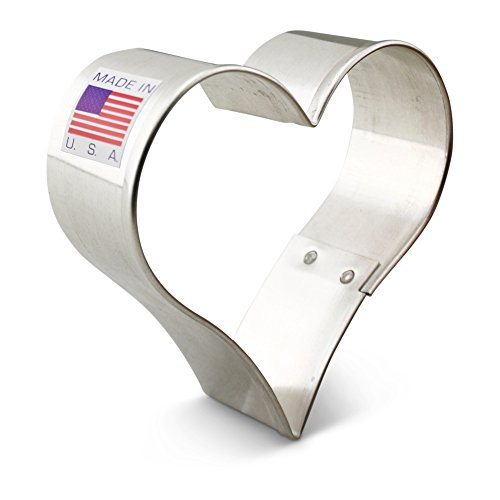 Ann Clark Heart Cookie Cutter - 3 Inches - Tin Plated Steel (Heart Shaped Cookie Cutter)