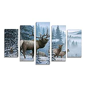 Amazon.com: Home Decor Pictures Frame HD Printed Canvas 5