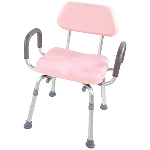 Shower Chair, Bath Chair, Padded with Armrests, Comfortable(tm) Deluxe Shower Chair. Institutional Quality. (Pink) ()