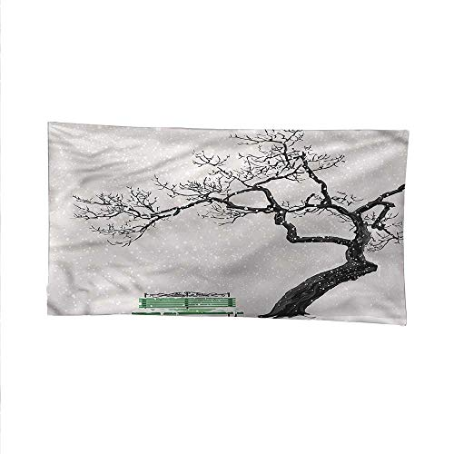 Treewall Tapestry for bedroombeach tapestryRetro Bench and Tree 93W x 70L Inch