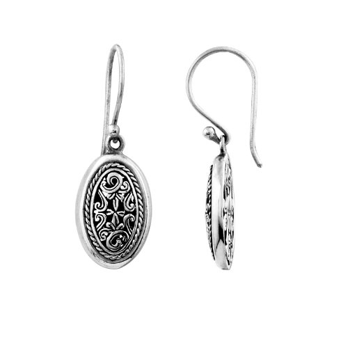 (Sterling Silver Beautiful Design Oval Shape Earring With Plain Silver AE-6004-S )