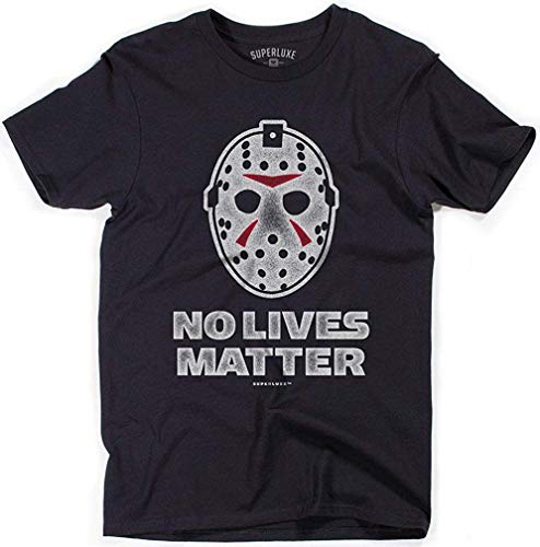 Mantshirt No Lives Matter Mens Halloween Ski Mask Costume Men's Men T-Shirt Printing Short Sleeve Tee-Black-L