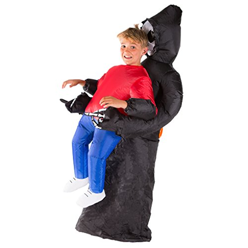 Bodysocks Kids Inflatable Grim Reaper Halloween Fancy Dress Costume -