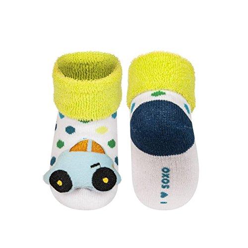 blucar–Calcetines de bebé bebé antideslizantes bbkdom verde Talla:16-18 verde