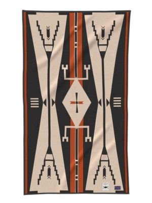 Pendleton Cheyenne Eagle Saddle Blanket, Black/Tan, One Size