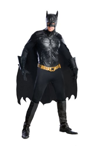 Batman The Dark Knight Rises Grand Heritage Deluxe Batman, Black, Large (Batman Costumes Adult)