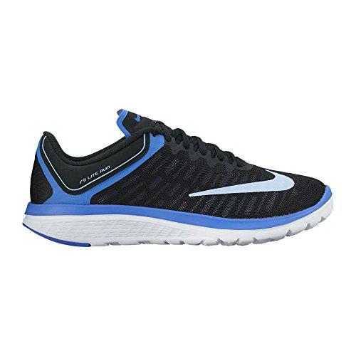 Nike Womens Fs Lite Run 4 Scarpa Da Corsa Nero / Alluminio / Blu Medio / Bianco