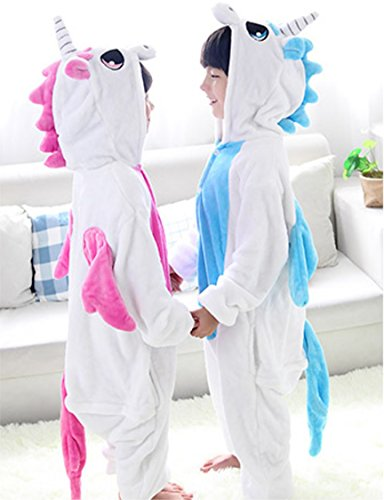 HalloweenCostumeParty Pink Unicorn onsie costume for toddler girls (S(6)