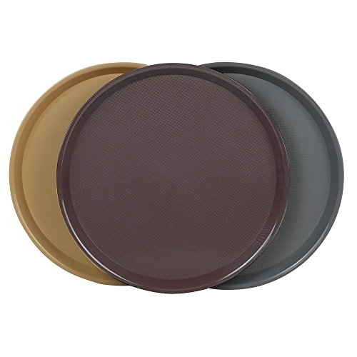 Cand Plastic Round Serving Trays, 3 Packs