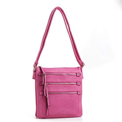 Mya M Signature Premium Crossover Cross Body Bag Over the Shoulder Luxury Womens Purses and Handbags by Mia K Farrow ()