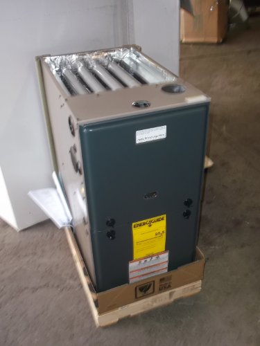York Evcon 80,000 BTU 1 Stage 95% 3 Ton Multiposition Gas Furnace (York Furnace)