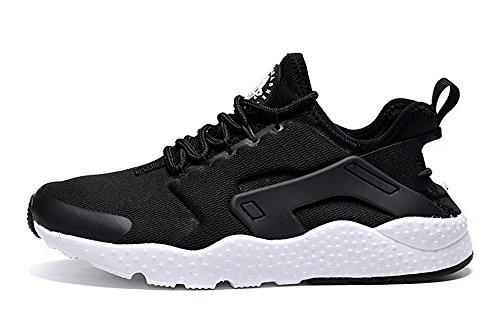 Air Huarache 2016 Men and Women Run Ultra Sneaker Shoes ZOPPUtility Running Shoes Black White US11