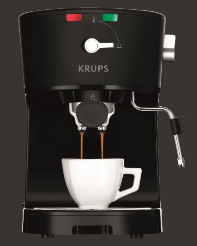 KRUPS XP3200 Opio Pump Boiler Espresso Machine with Milk Frothing Nozzle for Cappuccino, Black