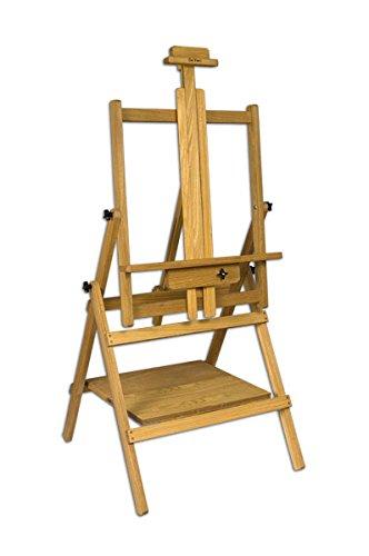 ci Multimedia Multi-Angle Convertible Wood Art Easel - Elm Wood Oil Finish 24x28