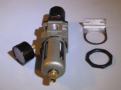 3/8' Compressed Air Filter/ Pressure Regulator combo W/gauge, bracket & nut