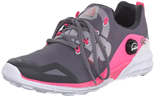 Reebok Women's Zpump Fusion 2.0 Running Shoe, Alloy/Tin Grey/Solar Pink/Coal/White, 8.5 M US
