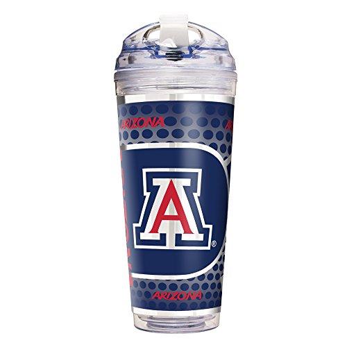 Great American Products NCAA Arizona Wildcats Double Wall Acrylic Travel Tumbler, 24-Ounce, (Arizona Wildcats Wall)