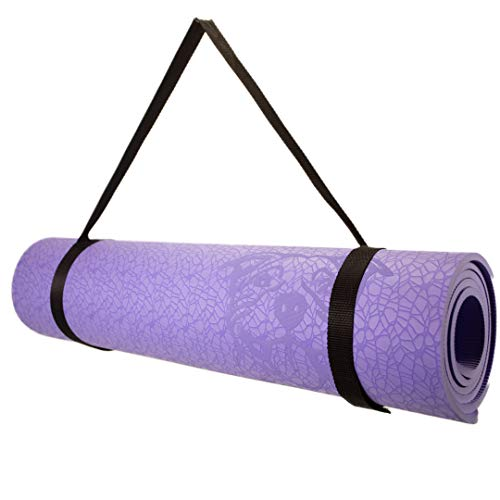 Koa Yoga Mat Essential TPE, Latex-free, Eco-friendly, Non-toxic, Non-slip, thick mat 6′ x 2′ x 8mm and a Donation to…