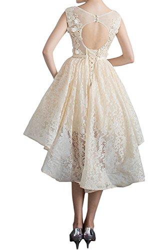 Kurz Abendkleider Promkleid Rundkragen Nazisse Partykleider Ivydressing Damen Spitzenkleid Sweetheart wqpCXxU