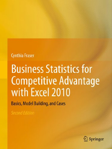 Business Statistics for Competitive Advantage with Excel 2010: Basics, Model Building, and - 2010 Advantage Math
