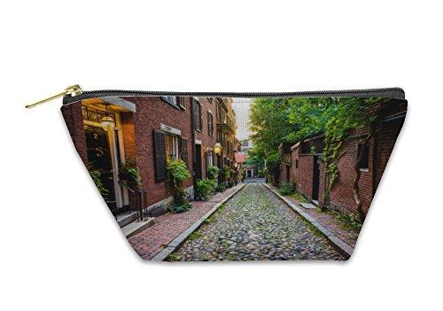 Gear New Accessory Zipper Pouch, Acorn Street In Beacon Hill Boston Massachusetts, Large, 5637553GN