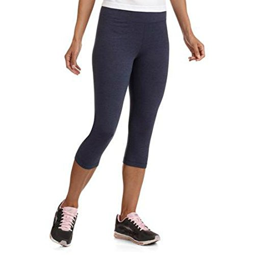 Women's Comfy Stretch Cotton Cropped Yoga Fitness Capri Leggings Medium (Danskin Cropped Leggings)