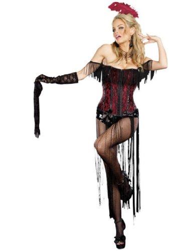 [Dreamgirl Burlesque Beauty, Black, Small] (Burlesque Costume Halloween)