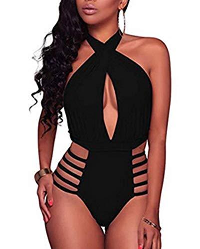 Aqua Eve Women Plus Size One Piece Off Shoulder Swimsuits Lace Up Tummy Control Flounce Bathing Suits White 14W