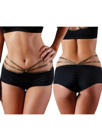 Pole Fitness Strappy O Ring Shorts - MEDIUM/LARGE