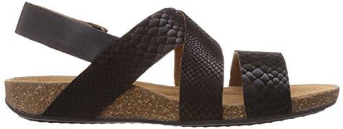 Clarks Perri Dunes - Sandalias de vestir de cuero para mujer negro negro Negro (Black Snake)