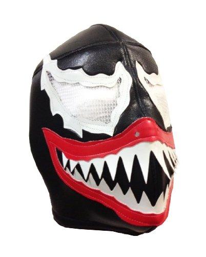 VENOM Lucha Libre Wrestling Mask (pro-fit) Costume Wear - Black by Mask Maniac
