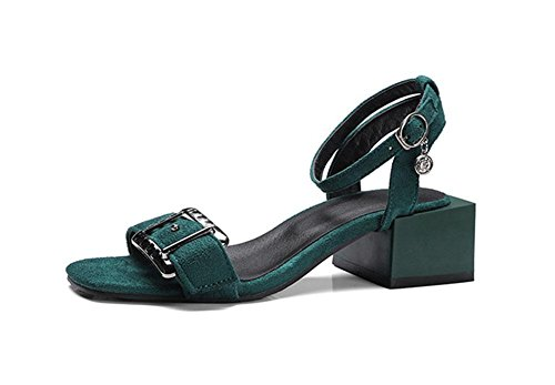 MEILI Sra. Thick Heeled Rainbow Sandals 1