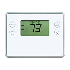 GoControl Thermostat, Z-Wave, Battery-Powered, Works with Alexa