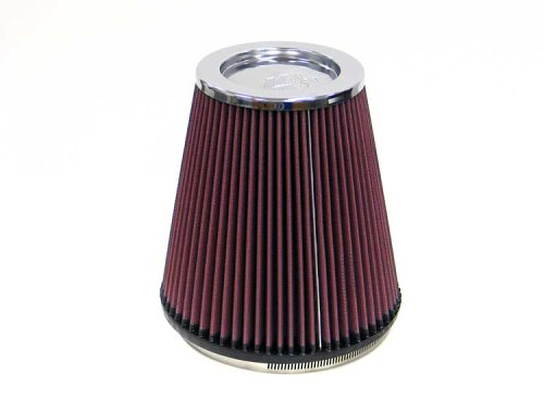 K&N RF-1044 Universal Clamp-On Air Filter: Round Tapered; 6 in (152 mm) Flange ID; 8 in (203 mm) Height; 7.5 in (191 mm) Base; 5 in (127 mm) Top