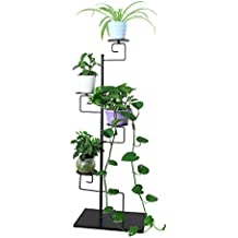 Funmall 4-Tiered Folding Plant Stand Pots Display Shelf