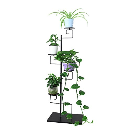 Funmall 4-Tiered Folding Plant Stand Pots Display Shelf by Funmall